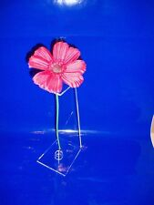 TOWER OF LONDON POPPY  DISPLAY STAND CLEAR ACRYLIC MODERN CONTEMPORARY STYLE