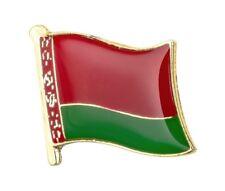 Belarus Flag Lapel Pin 19 x 16mm Hat Tie Tack Badge Pin Free Shipping