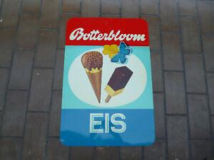 Botterbloom EIS Original altes Blechschild  1960er Jahre