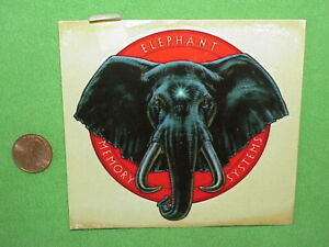 """VTG 80s Elephant Memory System Decal or Sticker 5 1/4"""" Floppy Disk/Computer PC"""