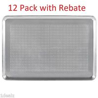 "12-Pack Premier Choice Perforated Full Size Aluminum Sheet Pan 18"" x 26"" $93 AR"