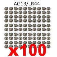 100pcs AG13 SR44 357 LR44 L1154 1,5 V ALCALINE BOTTONE cella BATTERIE dz