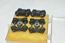 """HO scale PARTS Central Valley Fox sprung metal freight car trucks 33"""" wheels (4)"""