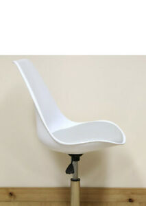 White Grey Adjustable Swivel Desk Chair Office Comfy Computer PC seat