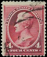 VEGAS - 1888 USA Sc# 215 4c Jackson - Used - Light Cancel - EF4