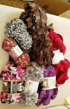 YARN Lot Of 7 Assorted And Fur Pre- owned But Not Used Crafts Knitting Sewing