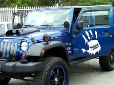 2 Decal sticker kit For Jeep Wrangler skull star leaf jk grill door chrome wrap