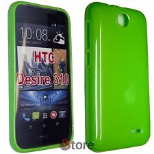 Cover Custodia Per HTC Desire 310 VERDE GEL TPU