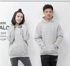 JACKET PLAIN WITH HOODIE - 1PC  ( LIGHT GRAY ) SMALL