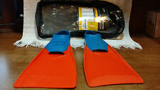 Finis Floating  US JR 11- 1 Fins Athletes Swim Training Swimming With Case