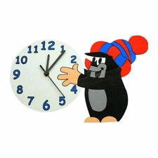 """ABA 74029 Horloge Mural """" Der kleine Maulwurf Avec Bonnet """" Bois Neuf ! #"""