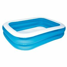 """Bestway 12819 Family Inflatable Paddling Pool Children Pool 83"""" x 52"""" x 18"""" New"""