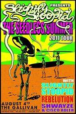 SLIGHTLY STOOPID / REBELUTION / SHWAYZE 2011 SALT LAKE CITY CONCERT TOUR POSTER