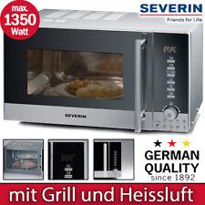 Severin Mikrowelle Grill 800 Watt Silber Timer Edelstahl Heißluft Stand Mikro