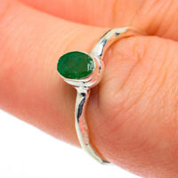 Zambian Emerald 925 Sterling Silver Ring Size 7.25 Ana Co Jewelry R62598F