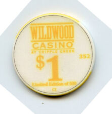 1.00 Casino Chip from the Wildwood Casino Cripple Creek Colorado Yellow
