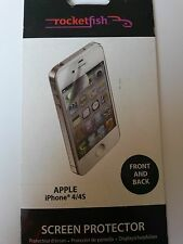 IPhone 4/4s Rocketfish protector de pantalla (para la parte delantera y trasera)