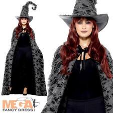 Deluxe HECHIZO CASTER las brujas Cape Vestido Elaborado Disfraz De Halloween Mujeres Adultos Acc