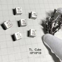 99.5% High Purity Titanium Ti 10mm Metal Carved Element Periodic Table New