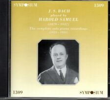 HAROLD SAMUEL - COMPLETE SOLO PIANO RECORDINGS - J S BACH - SYMPOSIUM - SEALED