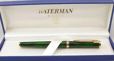 WATERMAN PREFACE GREEN  MARBLE & GOLD 18K GOLD FINE  PT FOUNTAIN PEN NEW IN BOX