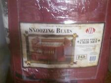 SnoozingBears 7-pc Crib Set.J.Q.Wright LifestylesCollectionNewInPackage