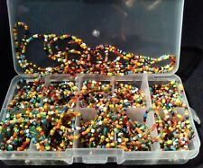 1000 PC.GLASS MULTI-COLOR SEED BEADS-GREAT For Crafts &JEWELRY MAKING FAST S&H