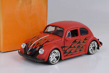 1959 Volkswagen Beetle  flames tuning / flat red / Fuchs rims 1:24 Jada
