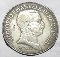 1914 Italy 5 Lire - Vittorio Emanuele III (Prova di stampa) Silver Plated Coin (
