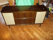 GRUNDIG model ?? 20 280 vintage late 50s or 60s w/ cover + all papers console