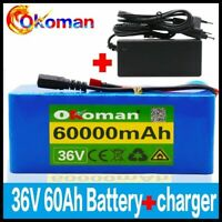 36V battery pack 500W high power battery 60000mAh Ebike electric bicycle charger