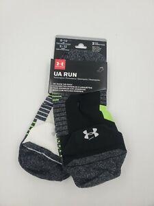 2 Pair Under Armour Running Socks, Men's Shoe Size 8-12, Women, No Show, L10 MP
