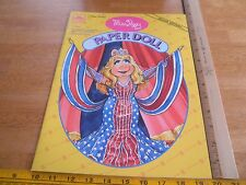 The Muppets 1994 Miss Piggy paper doll book unpunched Golden press