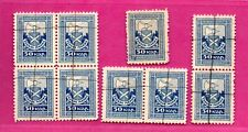 LATVIA LETTLAND LOT OF 9 REVENUE STAMPS 801