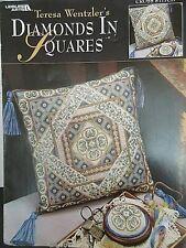 Leisure arts Teresa Wentzler cross stitch Chart 102757 Diamonds in Squares