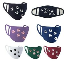 DOG PAW DESIGN FACE MASK Premier Reusable:  20% to Barking Mad Dog Charity :-)