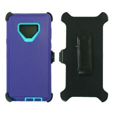 For Samsung Galaxy Note 9 Case Cover W/Clip Fit Otterbox Defender Purple Teal