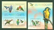 Postfrische Briefmarken mit Vögel-Motiven Papageien