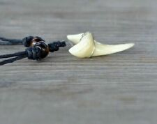 Shark Tooth Black Wooden Beads On Cord Pendant Necklace Length 26cm-48cm