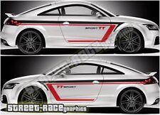 Audi TT rally 009 racing stripe graphics stickers decals vinyl