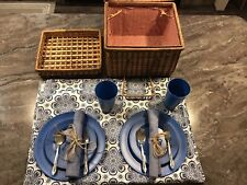 Woven Picnic Basket(service For Two)