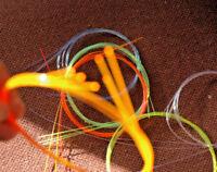 "2 x 12"" BullsEye FiberOptic Free 1ST CLASS for Bows/Sights/Crafts .019/.5mm glow"
