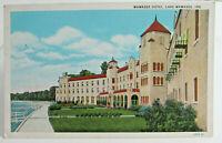 1915-30 LAKE WAWASEE INDIANA Postcard of WAWASEE HOTEL, Syracuse Indiana Lake