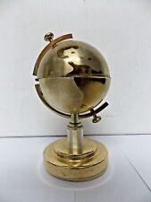 Vintage Mid Century Butane Brass Style Globe Cigarette Lighter Korea
