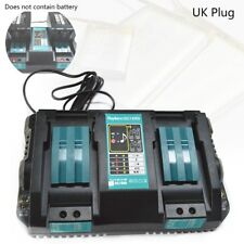 Double Battery Charger For Makita 14.4V 18V BL1830 Bl1430 DC18RC DC18RA(UK I4C0