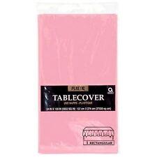 54x108in Rose Bébé Nappe De Table En Plastique Tissu Fête Catering Fêtes