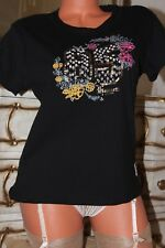 (S14) HAMNETT  Black 100% cotton embroidered beaded design size 14 New