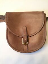Vintage NYC Coach Riding Bag in Putty