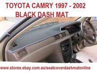 BLACK DASH MAT,DASHMAT, FIT TOYOTA CAMRY 1997-2002,  BLACK