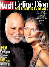 "Celine Dion ""Rare"" Paris Match Magazine 1999 With Rene"
